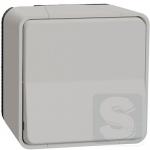 Кнопочный выключатель Mureva Styl IP55 Графит накладной