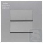 Выключатель 1-кл. кнопочный ABВ Zenit серебро +суппорт (N2271.9+N2204.7 PL)