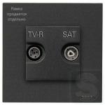 Розетка TV R конечная ABВ Zenit антрацит +суппорт (N2271.9+8150+N2250.7 AN)
