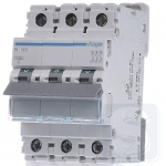 Автоматический выключатель Hager 50А, 10kA тип C, 3p