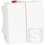 Переключатель 2-клавишный перекрестный, белый, Schneider UNICA NEW (NU310518*2шт.)