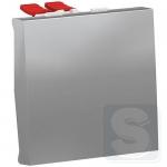Переключатель 1-клавишный перекрестный, алюминий, Schneider UNICA NEW (NU320530)