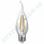 LED Лампа Neomax Филамент Свеча на ветру 4W E14 3000K 400Lm 165-265V NX4CWF диммируемая