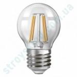 LED Лампа Neomax Филамент Свеча Шар 4W E27 3000K 400Lm 165-265V NX4F