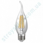 LED Лампа Neomax Филамент Свеча на ветру 6W E14 3000K 600Lm 165-265V NX6CWF