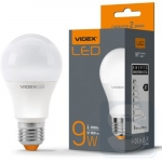 LED лампа VIDEX A60e 9W E27 3000K 220V 800Lm (VL-A60e-09273)