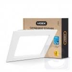 LED светильник встраиваемый квадрат VIDEX 12W 5000K 220V (VL-DLS-125)