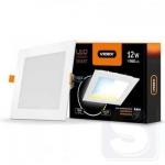 LED светильник с регулировкой цветности, встраиваемый Квадрат VIDEX 12W 3000-6200K 220V С3 (VL-DLSC3-12)