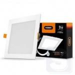 LED светильник встраиваемый квадрат с регулировкой яркости VIDEX 9W 5000K 220V D3 (VL-DLSD3-095)