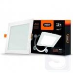 LED светильник встраиваемый квадрат с регулировкой яркости VIDEX 12W 5000K 220V D3 (VL-DLSD3-125)