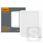 LED светильник накладной квадрат VIDEX 18W 5000K 220V (VL-DLSS-185)