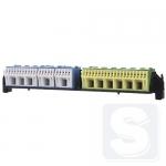 Клеммы для проводов с держателем под PE и N для 4-х и 5-ти рядных щитов Hager
