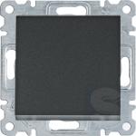 Выключатель одноклавишный, черный, Hager Lumina(WL0013)