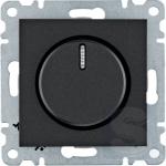 Диммер поворотный 600Вт, черный, Hager Lumina (WL4013)