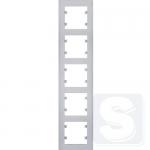 Рамка пятерная вертикальная, Lumina-Intens, серебристый, Hager Lumina (WL5652)
