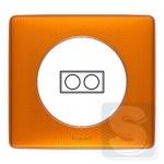 Рамка 2-я Оранжевый пунктум металлическая Legrand Celiane