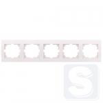 Рамка 5-ая горизонтальная Lezard Deriy Белый  (702-0200-150)