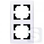 Рамка 2-ая вертикальная Lezard  Rain Белый (703-0202-152) (Рамка продается отдельно!)