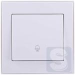 Кнопка звонка Lezard  Rain Белый (703-0288-103) (Рамка продается отдельно!)