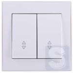 Выключатель двойной проходной Lezard  Rain Белый (703-0288-106) (Рамка продается отдельно!)