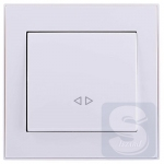 Выключатель промежуточный Lezard  Rain Белый (703-0288-107) (Рамка продается отдельно!)