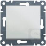 Выключатель 1-кл кнопочный Hager Lumina2 белый (WL0110)