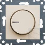 Диммер поворотный 60-600 Вт Hager Lumina2 крем (WL4011)