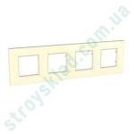 Рамка на 4 поста Schneider Unica Quadro MGU2.708.25 слоновая кость