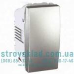 Выключатель перекрестный 1 модуль Schneider Electric Unica алюминий MGU3.105.30
