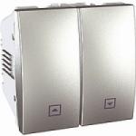 Выключатель жалюзи без фиксации Schneider Electric Unica алюминий MGU3.207.30