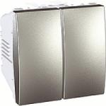 Выключатель 2-клавишный Schneider Electric Unica алюминий MGU3.211.30