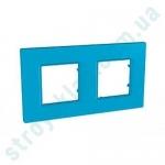Рамка на 2 поста Schneider Unica Quadro MGU4.704.26 цвет Aqua