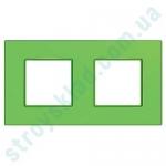 Рамка на 2 поста Schneider Unica Quadro MGU4.704.28 цвет Bio