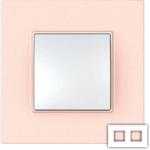 Рамка на 2 поста Schneider Unica Quadro MGU4.704.37 розово-жемчужный