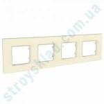 Рамка на 4 поста Schneider Unica Quadro MGU4.708.35 серо-жемчужный
