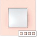 Рамка на 4 поста Schneider Unica Quadro MGU4.708.37 розово-жемчужный