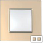 Рамка на 2 поста Schneider Unica Quadro MGU6.704.56 медь