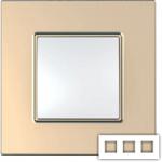 Рамка на 3 поста Schneider Unica Quadro MGU6.706.56 медь