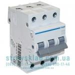 Автоматический выключатель 16А, 3п, С, 6 kA Hager MC316A