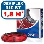 Нагревательный кабель 1,8м² двухжильный DEVIflex 18T 310Вт (140F1401)