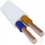 Плоский кабель гибкий ШВВП 2х6 (режется кратно 1 м)