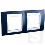 Рамка двухместная Schneider Unica Plus Индиго/Белый (MGU6.004.842)