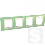 Рамка четырехместная Schneider Unica Plus Зеленое яблоко/Слоновая кость (MGU6.008.563)