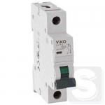 Выключатель автоматический Viko, 1P, C, 40A, 4,5kA (4VTB-1C40) Турция